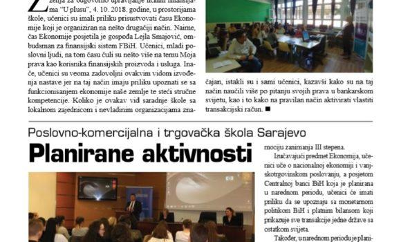 """Časopis Ministarstva za obrazovanje, nauku i mlade Kantona Sarajevo """"Mladi i škola"""", decembar 2018."""