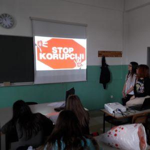 """Održan čas u okviru projekta """"Prevencija korupcije u obrazovanju: Više znanja, više transparentnosti"""""""