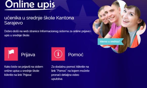 Upis učenika u 1. razred srednje škole na području Kantona Sarajevo